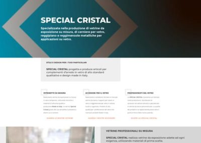 Sito web Accessori e Produzione Vetrine Espositive Special Cristal