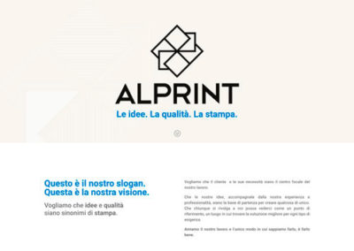 Sito web Tipografia Alprint