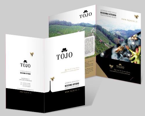Creazione folder prodotti Aziende Vini Tojo