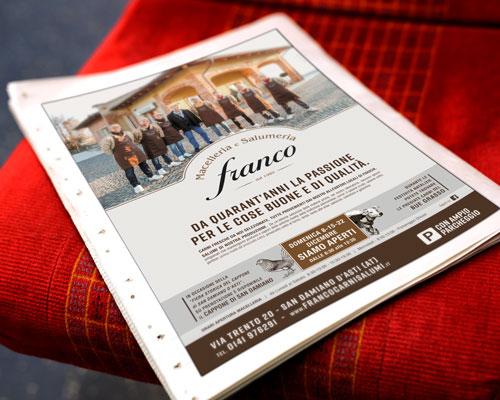 Creazione inserzioni giornale Macelleria Salumeria Franco