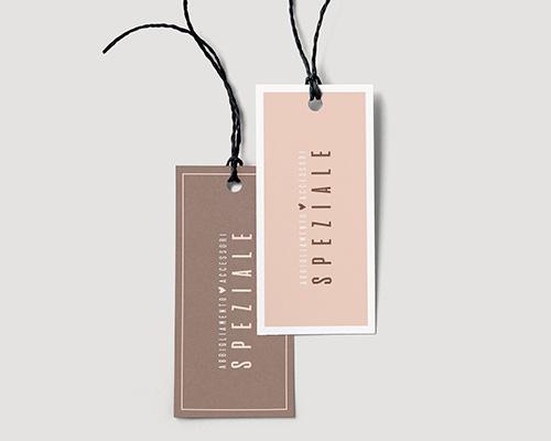 Creazione etichetta per abbigliamento e accessori SPEZIALE