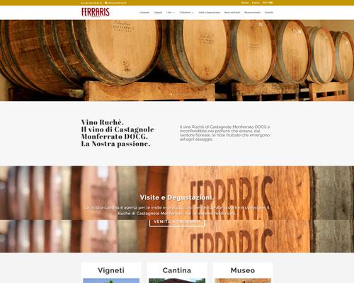 Sito web Vini Ferraris Agricola